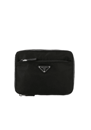 Cosmetic Case Prada Medium Beauty Case In Nylon With Triangular Logo