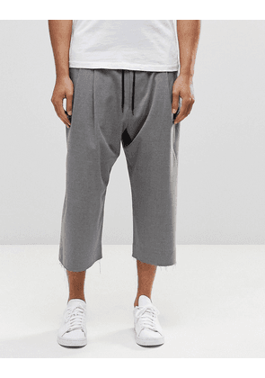 ASOS Smart Jogger With Rib in Grey