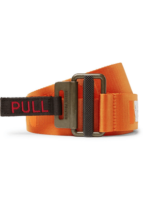 Heron Preston - 4cm Logo-jacquard Webbing Belt - Orange
