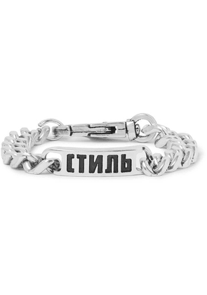 Heron Preston - Logo-detailed Silver-tone Chain Bracelet - Silver