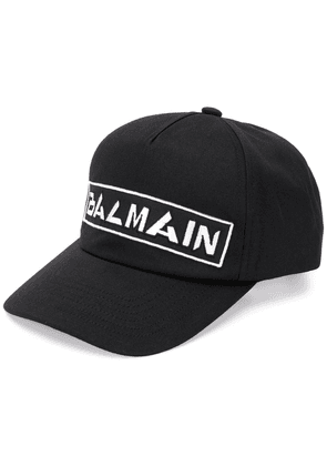 Balmain embroidered logo cap - Black