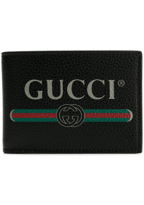 Gucci Gucci Print leather coin wallet - Black