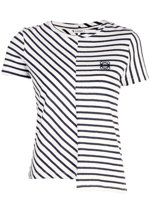Loewe striped panel T-shirt - Neutrals