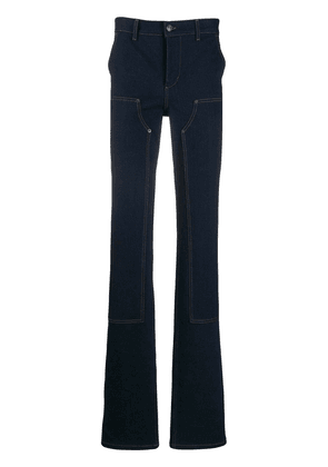 Balenciaga Fitted patch jeans - Blue