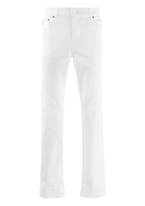 Balenciaga distressed straight fit jeans - White