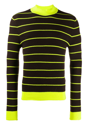 Acne Studios striped knitted jumper - Brown