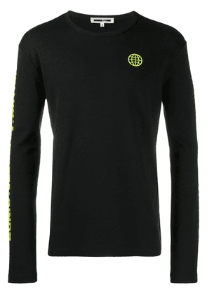 McQ Alexander McQueen long-sleeve fitted sweater - Black