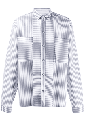 Ann Demeulemeester striped shirt - White