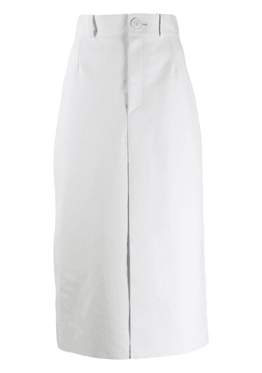 Balenciaga high-waist pencil skirt - White