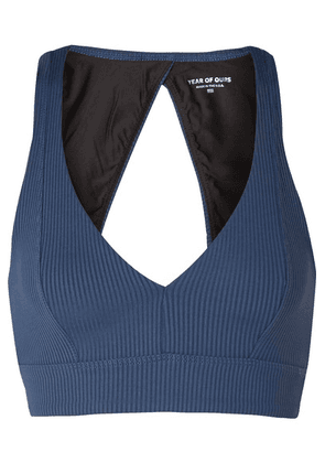 Year of Ours - Victoria Cutout Ribbed Stretch Sports Bra - Navy