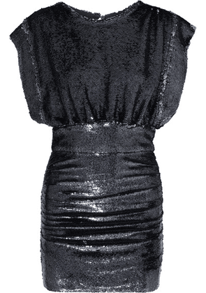 IRO - Miracle Sequined Stretch-jersey Mini Dress - Anthracite
