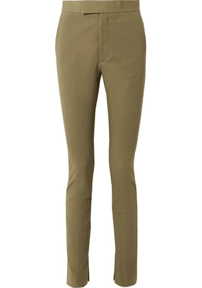 Helmut Lang - Stretch-cotton Twill Skinny Pants - Army green