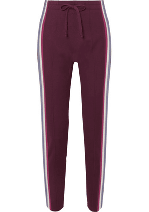 Isabel Marant Étoile - Darion Striped Knitted Track Pants - Burgundy