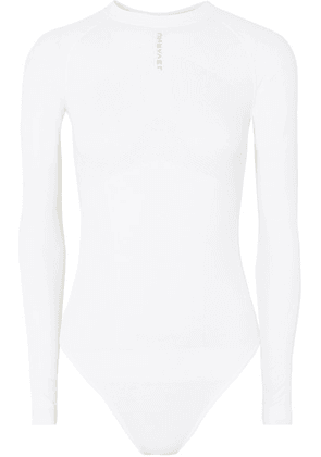 Unravel Project - Mesh-paneled Tech-jersey Bodysuit - White