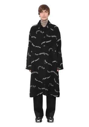 Printed Wool & Cashmere Coat