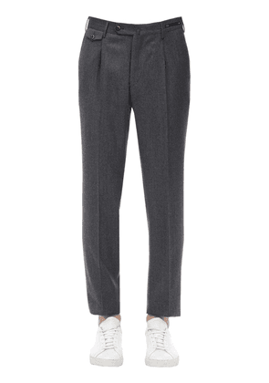 Virgin Wool & Cashmere Flannel Pants