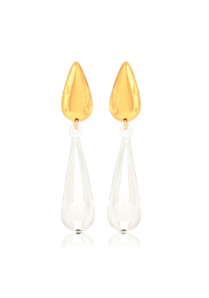 Dusky Hue 24kt gold-plated earrings