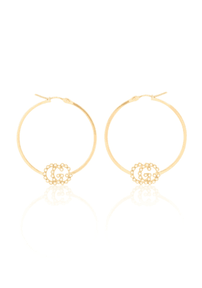 GG Running 18kt gold hoop earrings with diamonds