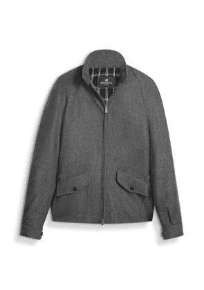 Grey Merino Wool Golfer Jacket