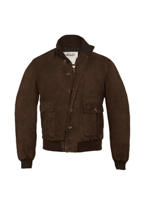 Chocolate Brown Suede Down Valstarino A1 Jacket