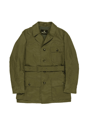 Green Cotton Shooter Jacket