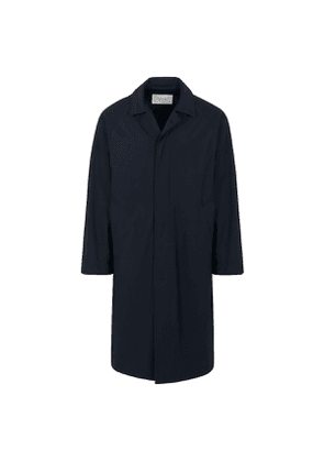 Navy Canvas Ruiz Hooded Coat