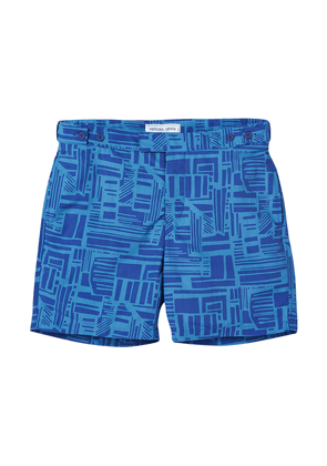 Navy and Reef Blue Tailored Linha Shorts