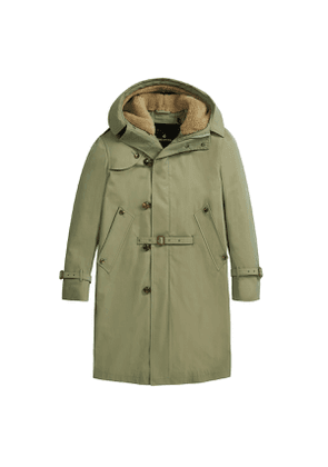 Sage Green Helvellyn Gabardine Cotton Coat