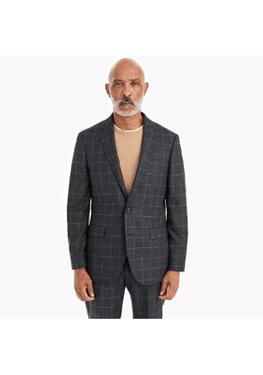 Ludlow Slim-fit blazer in windowpane bouclé wool blend