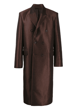 Acne Studios tailored double-breasted coat - Brown
