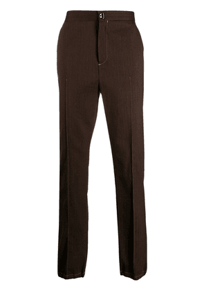 Acne Studios striped wool trousers - Brown