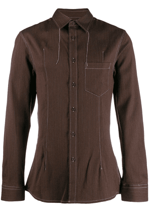 Acne Studios striped tailored shirt - Brown