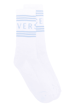 Versace logo socks - White