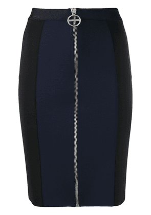 Givenchy zip front panelled mini skirt - Blue