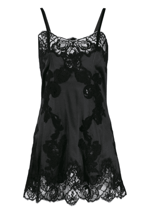 Dolce & Gabbana lace mini slip dress - Black