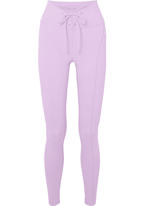 Year of Ours - Football Lace-up Stretch Leggings - Lilac