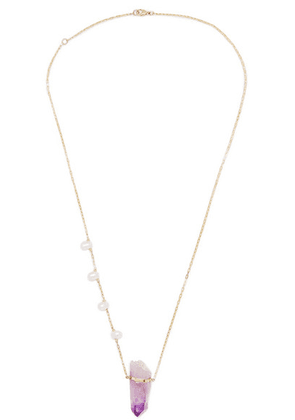 Harris Zhu - 14-karat Gold, Amethyst And Pearl Necklace - one size