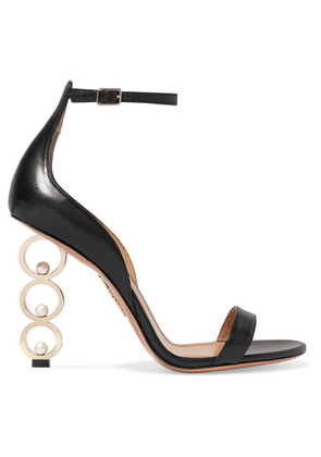 Aquazzura - + Anissa Kermiche So Anissa Leather Sandals - Black