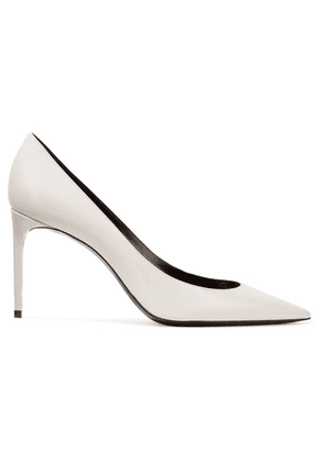 SAINT LAURENT - Zoe Patent-leather Pumps - Ivory