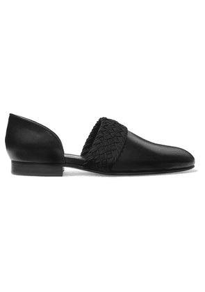 Loewe - Flex D'orsay Braided Leather Loafers - Black