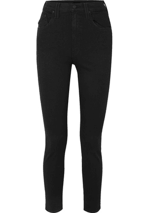 Mother - The Diamond Swooner High-rise Skinny Jeans - Black
