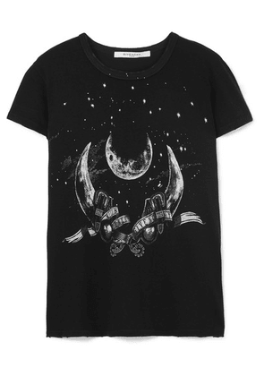 Givenchy - Taurus Printed Distressed Cotton-jersey T-shirt - Black