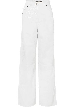 Jacquemus - High-rise Wide-leg Jeans - White