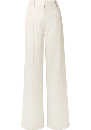 Adam Lippes - Canvas Wide-leg Pants - Cream