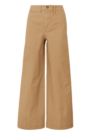 Madewell - Emmett Stretch Cotton-canvas Wide-leg Pants - Sand
