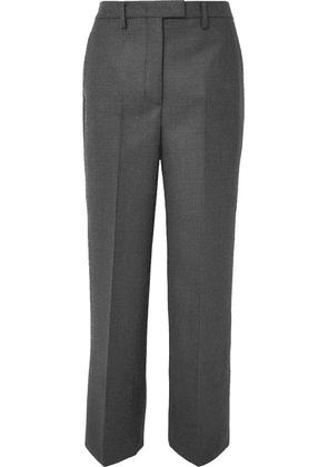 Prada - Checked Virgin Wool-blend Straight-leg Pants - Gray