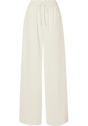 Co - Crepe Wide-leg Pants - Ivory