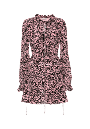 Exclusive to Mytheresa – Leopard-print crêpe de chine minidress