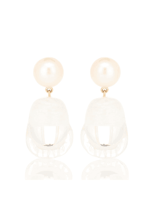 Venus Vere 14-kt yellow gold earrings with pearls