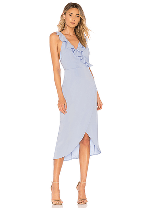 About Us Pia Ruffle Midi Dress in Baby Blue. Size XL.